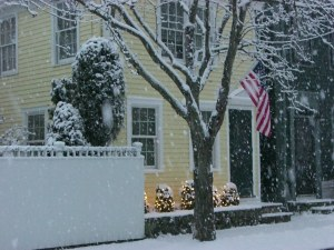 Season's Greetings from New England; we're now decorated for the holidays and ready for that White Christmas.