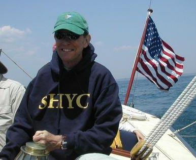 J. Morris Hicks, enjoying the New England summer