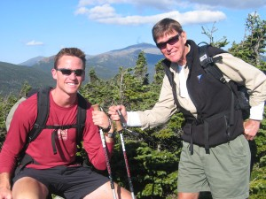 Co-authors J. Stanfield (Jason) and J. Morris Hicks hiking in the White Mountains of New Hampshire