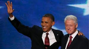 Presidents Obama and Clinton at the 2012 Democratic Convention