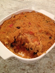 Three Sisters Casserole with polenta topping
