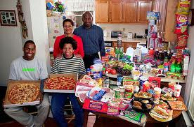This family in NC is very happy with the way they eat---even though less than 10 percent of their calories comes from food that nature intended for us to eat.