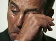 "Boehner's reaction to the defeat of his ""Plan B."""