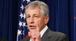 "Chuck Hagel must fight the ""health care monster"" for money to run the DOD."