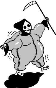 "The gist of the article is our ""fear of fat."" This was the image in the New York Times."