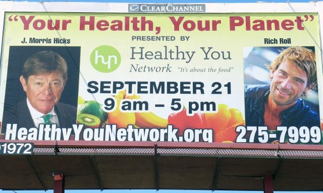 The highway billboard promoting my 9-21-13 speech in Tucson, AZ