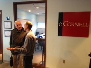 Dr. Campbell and Chris Proulx, the CEO of eCornell in Ithaca, NY