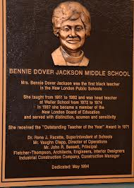 As you can see from this plaque, this special woman was the first African American to teach in the New London School system---in the 1950s.