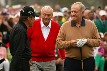 The big three, with Gary looking a full generation younger than Arnie and Jack this week.