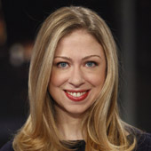 Chelsea Clinton as she appears on the Clinton Foundation website. A near- vegan herself, she may have had a major influence on her father's dietary change.