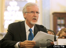 James Cameron testifying before a Senate committee in June, 2013.