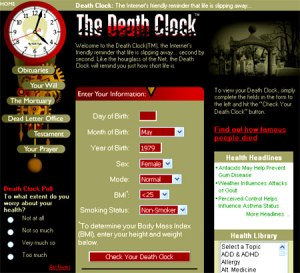 You can find the Death Clock at deathclock.com