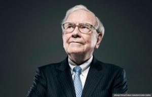 Warren Buffett as he appeared in the AARP article.