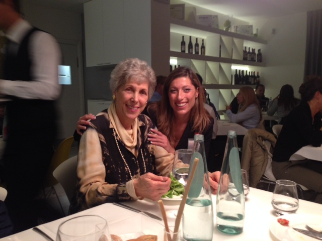Peggy Straus, granddaughter of Dr. Max Gerson on the left and Susanna Piccioni on the right.