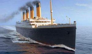 Titanic at sea