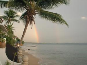 Rainbows were common on the beaches of Mayaguez, Puerto Rico.