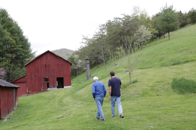 During the film, Colin and Nelson visit the family's old dairy farm in northern Virginia.