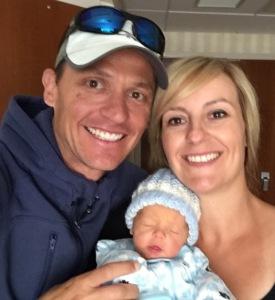 Lucas Jason Hicks with his proud parents, Lisa and Jason.