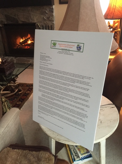This jumbo size letter was first rejected by your office when delivered by UPS in early February. I re-sent the letter a week later via USPS.