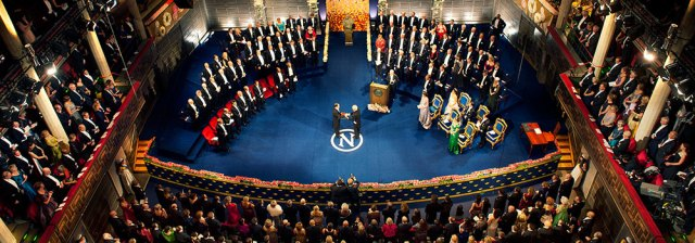 The Nobel Prize Nobel Prizes in Physics, Chemistry, Physiology or Medicine and Literature are awarded in Stockholm, Sweden, while the Nobel Peace Prize is awarded in Oslo, Norway.