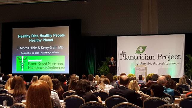J. Morris Hicks speaking at the International Plant-Based Nutrition Healthcare Conference -- 2016